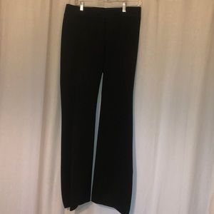Black LOFT wide leg work pants.